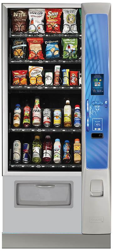 Crane Merchant Media combo vending machine